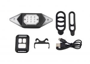 Clignotant pour vélo - Sans fil - USB Rechargeable